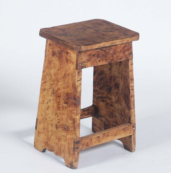 A painted wood stool, 20th century