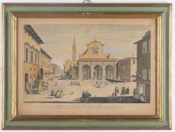 A pair of prints with views of Florence, England, 18th century