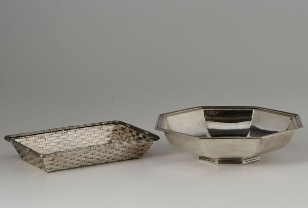A Christofle basket and a centrepiece, 20th century