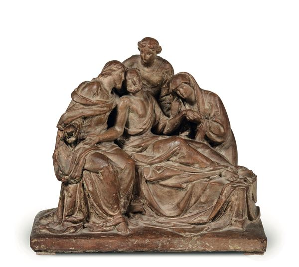 A terracotta group, Italy (?), 19th century