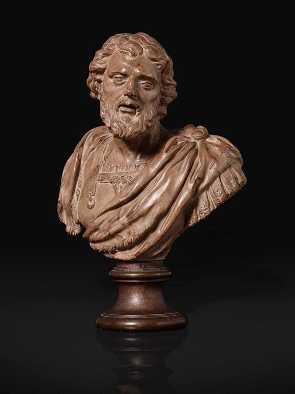 A terracotta bust, Rome, early 1600s