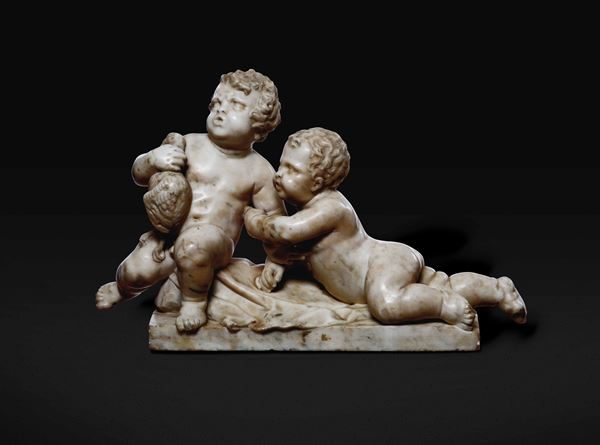 A marble group, Italy, 17th century