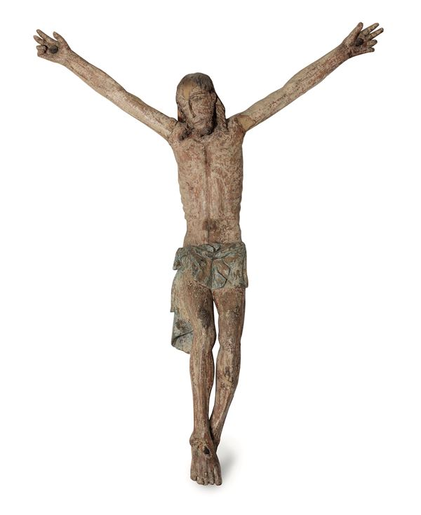 A wooden Corpus Christi, Italy, early 1400s