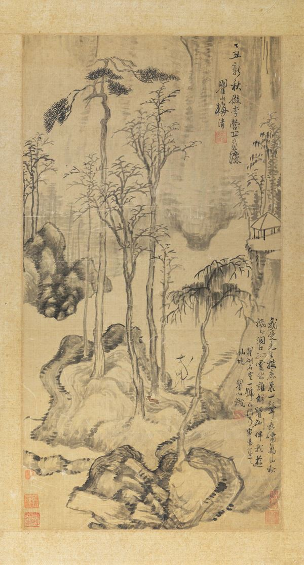 A painting on silk, China, 1800s