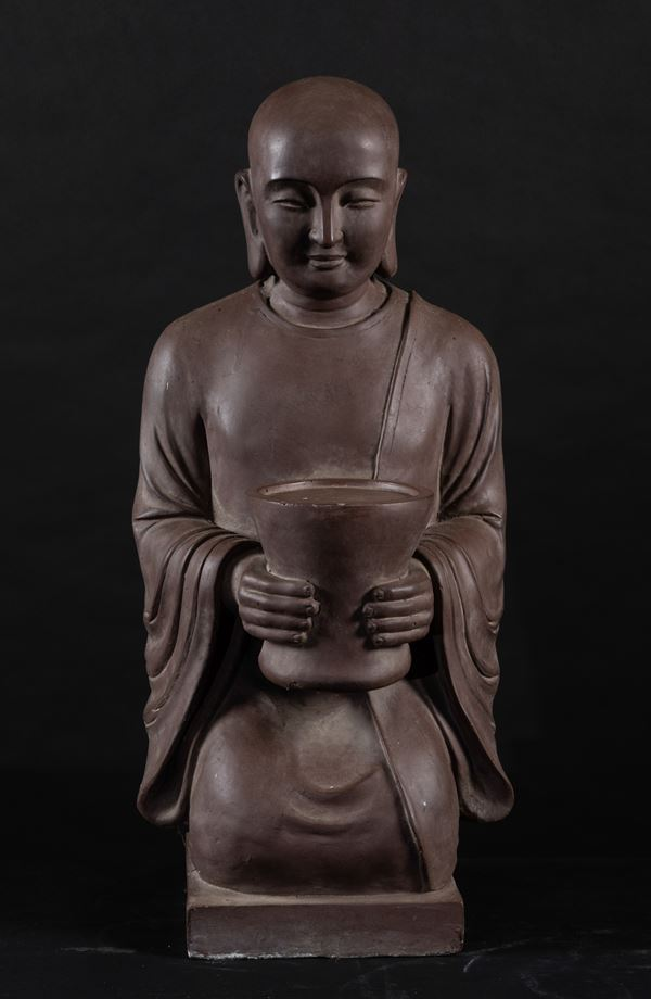 A large grès sculpture, China, late 1800s