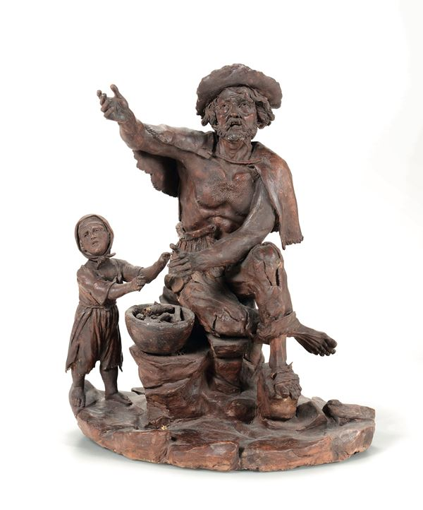 A terracotta group, Germany, 18th century