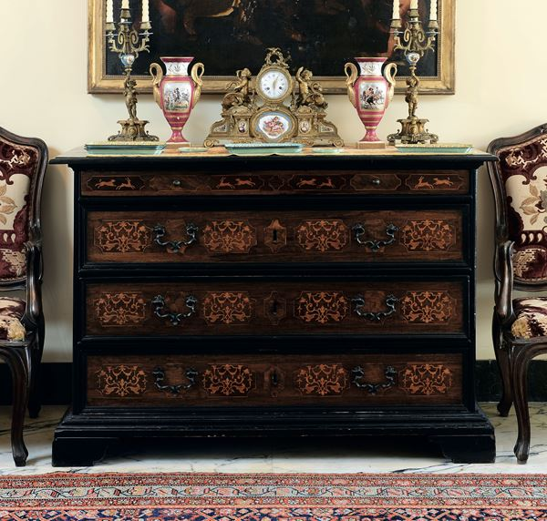Two Louis XIV chests, 18th century