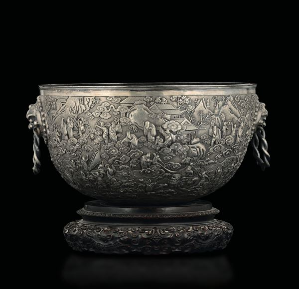 A silver cup, China, late 1800s