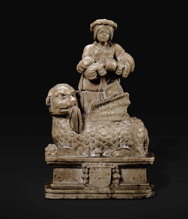 An alabaster group, Spain/Southern France, 1500s