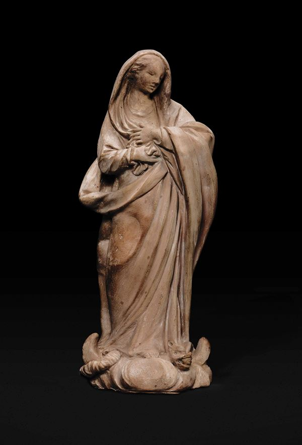 A terracotta Immaculate Mary, Bologna, early 1700s
