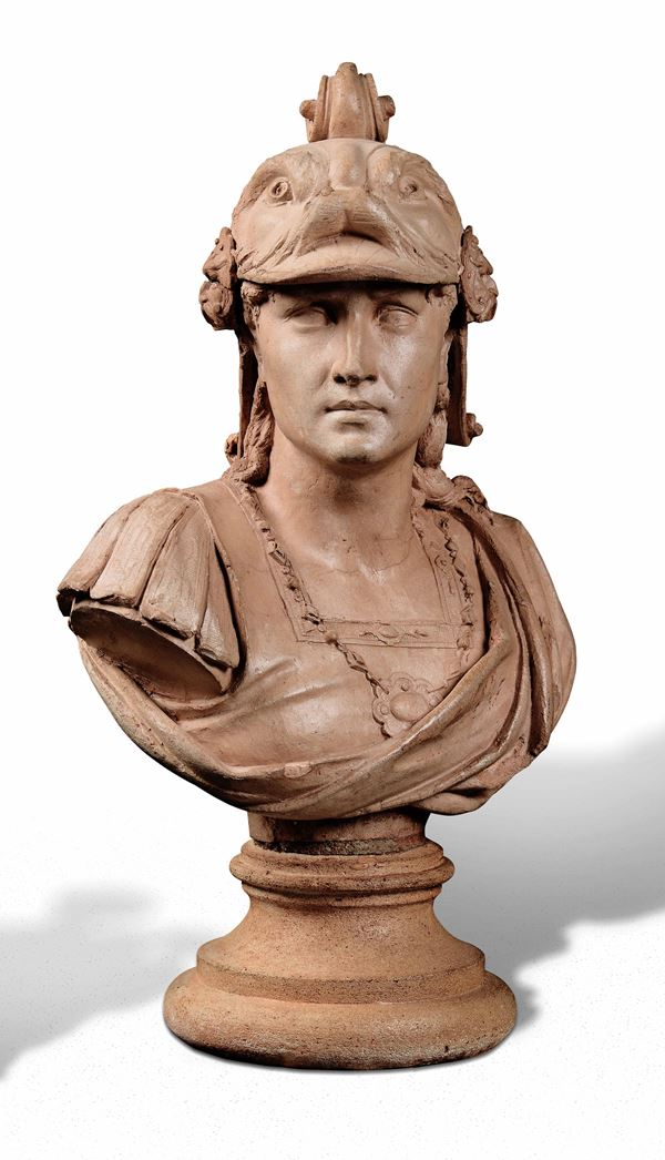 A terracotta bust, Italy or France, 1800s