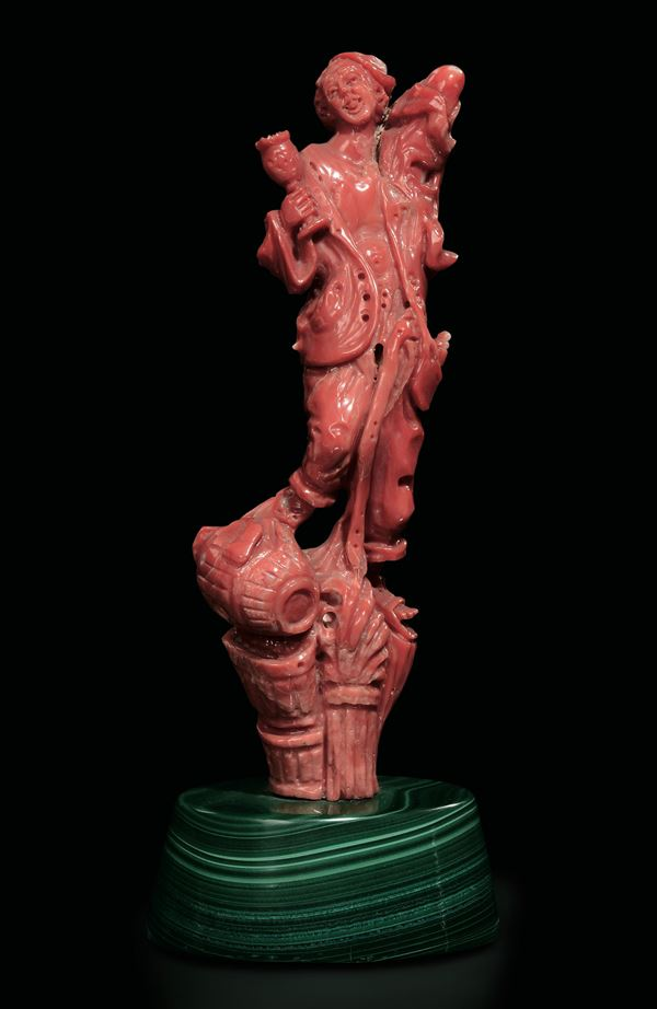 A coral figure, China, early 1900s
