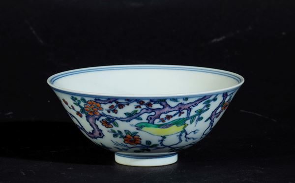 A small porcelain bowl, China, Qing Dynasty