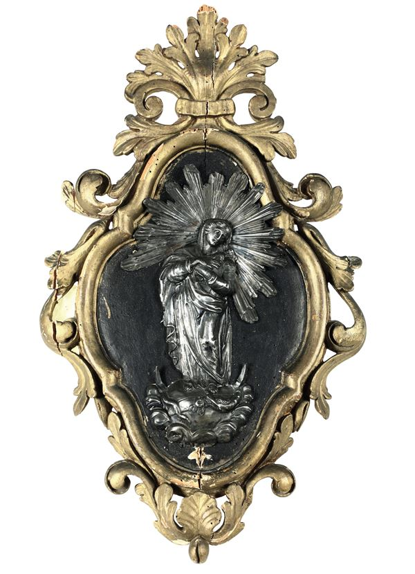 A silver holy water fount, Genoa, 1700s