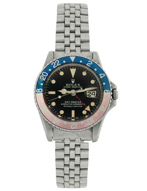Rolex, Oyster Perpetual, GMT MASTER, Superlative Chronometer, Officially Certified, case No. 2874009,  [..]