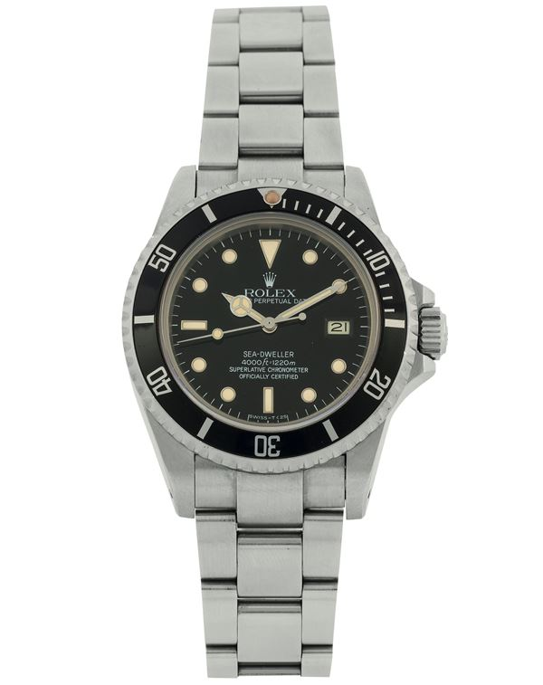 Rolex, Oyster Perpetual Date, Sea Dweller 4000 ft = 1220 m, Superlative Chronometer Officially Certified,  [..]