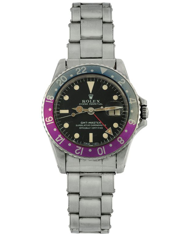 """ROLEX, """"Oster Perpetual, GMT-MASTER, Superlative Chronometer officially Certified"""", case No.  Ref. 1675.  [..]"""