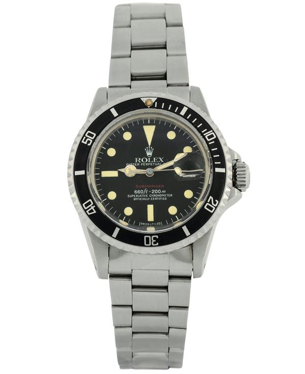 Rolex,  Oyster Perpetual Date, Submariner, 660 ft = 200 m, Superlative Chronometer, Officially Certified,  [..]