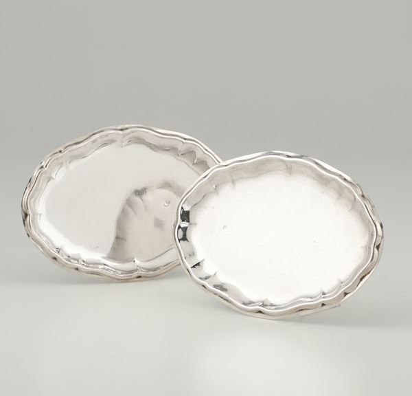 Two silver trays, Italy, 18-1900s