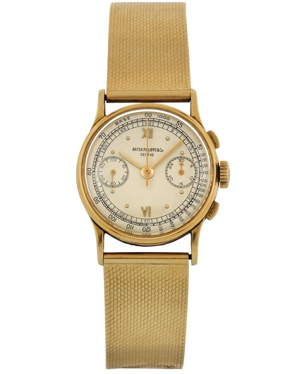Patek Philippe & Co., Genève, case No. 650066. Ref. 130. Very fine and rare, 18K yellow gold wristwatch  [..]