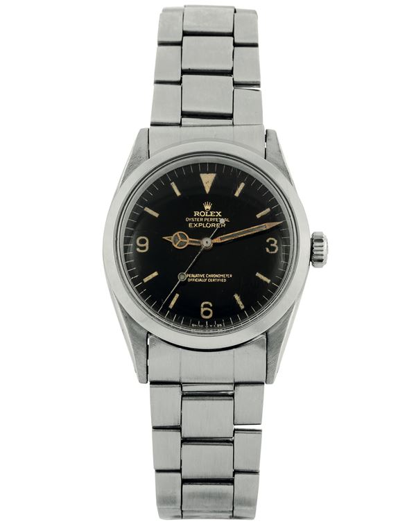 ROLEX, Oyster Perpetual, Explorer, Superlative Chronometer, Officially Certified, case No. 1053644,  [..]