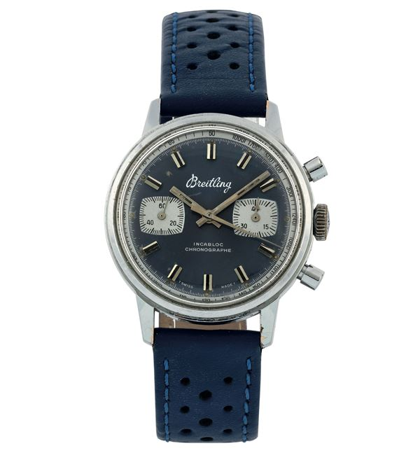 Breitling, Incabloc, Chronograph, case No. 33223. Fine, stainless steel chronograph wristwatch. Made circa 1970