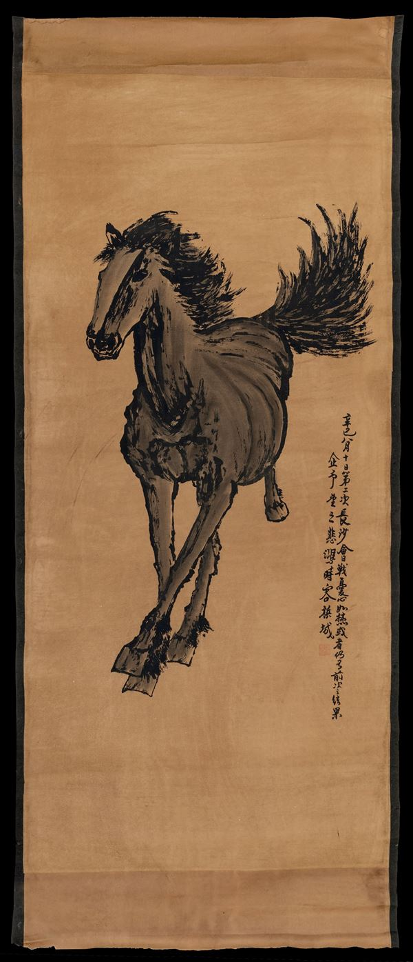An ink painting on paper, China, 19th century