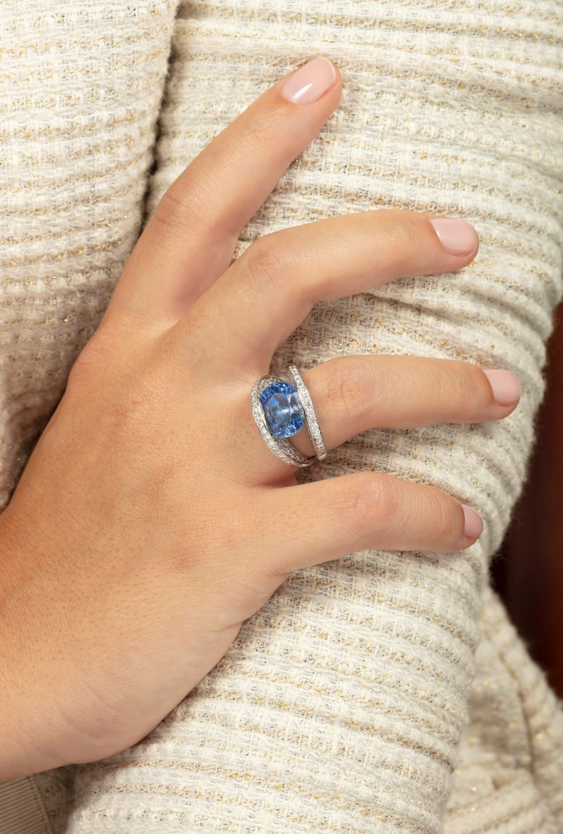 Sapphire and diamond ring  - Auction Jewels - Cambi Casa d'Aste