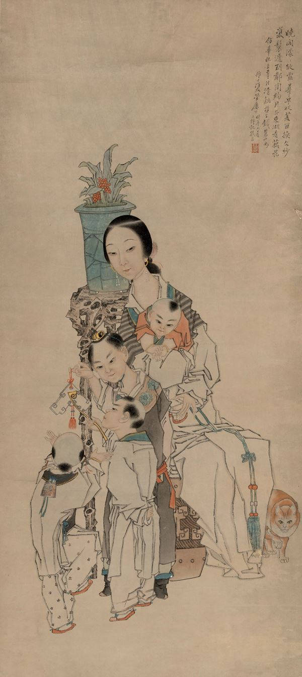 A painting on paper, China, 1900s