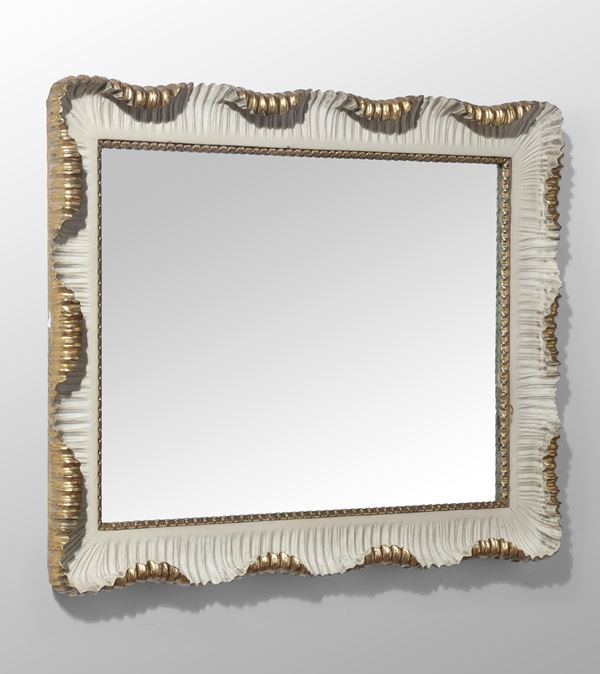 A mirror with wooden frame, Italy, 1940 ca.