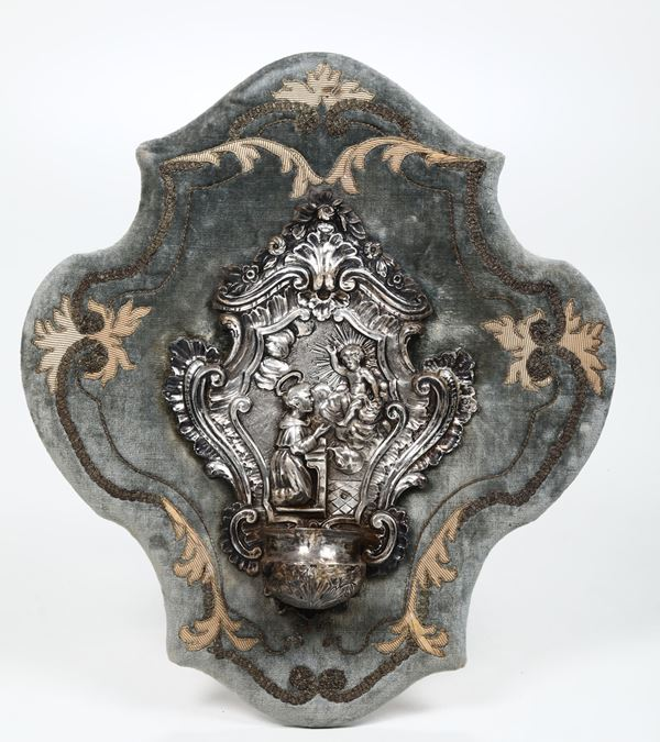 A silver holy water font, Genoa, 1790