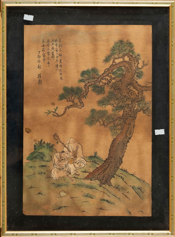 A painting on paper, China, 1800s