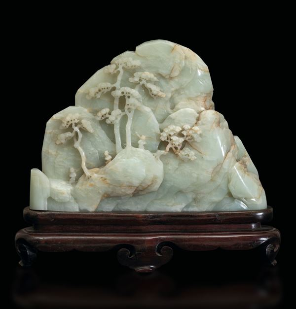 A white jade sculpture, China, Qing Dynasty