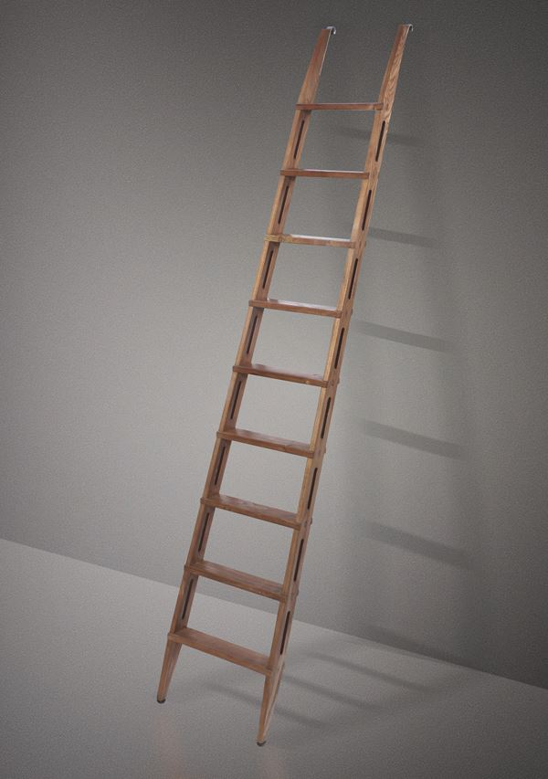 F. Albini, a wooden ladder, Italy, 1950s