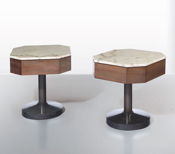 Two side tables, Italy, 1950s