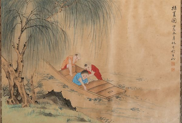Four paintings on paper, China, 1900s