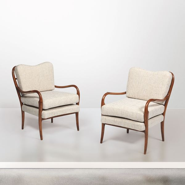 Two armchairs, Italy, 1940s