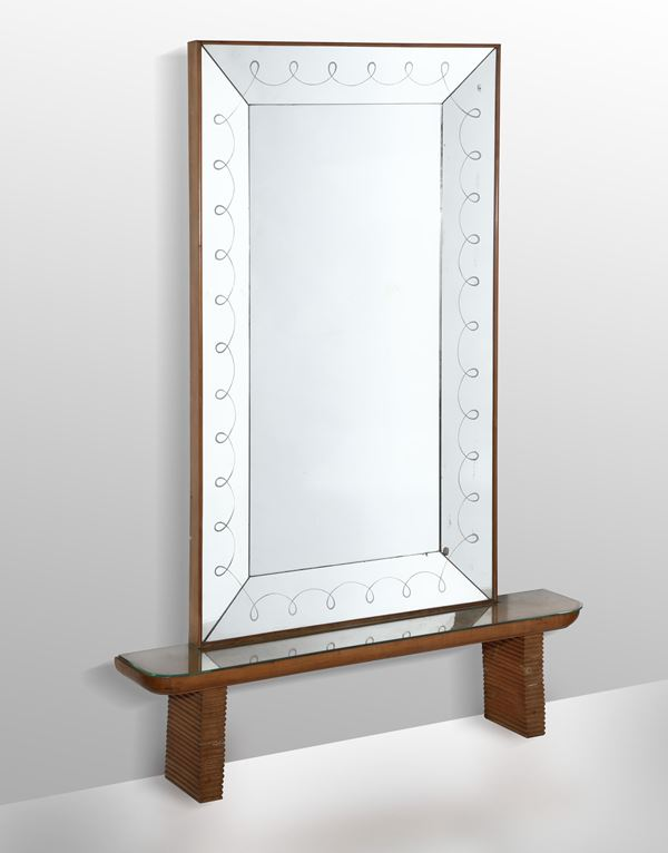 A console table and mirror, Italy, 1940s