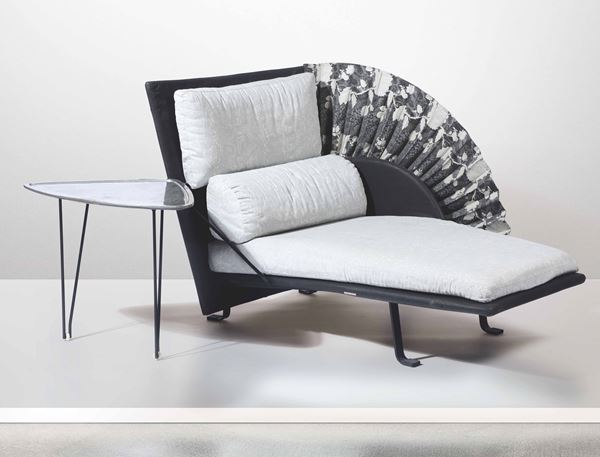 P. Nava, a chaise longue and small table, Italy