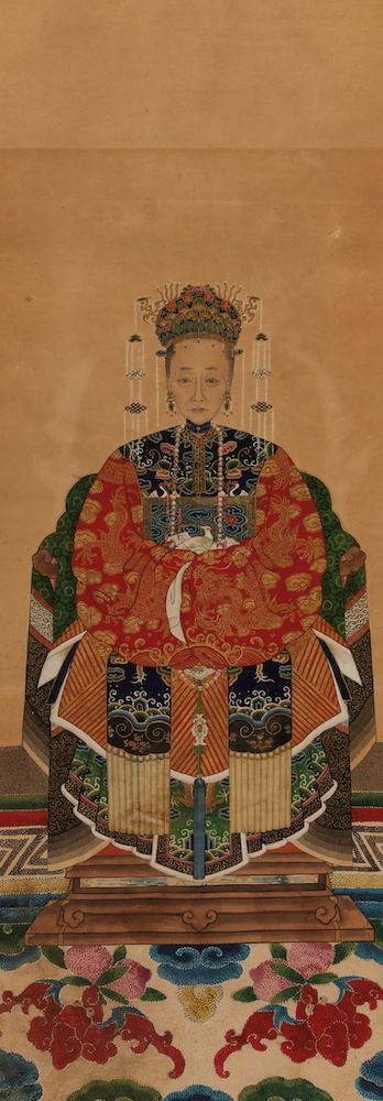 A painting on paper, China, Qing Dynasty, 1800s