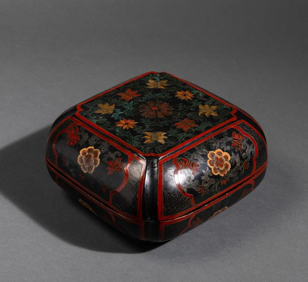 A lacquered box, China, Qing Dynasty, 1800s