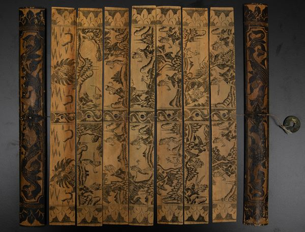 A small miniated binding, South-East Asia, 1800s