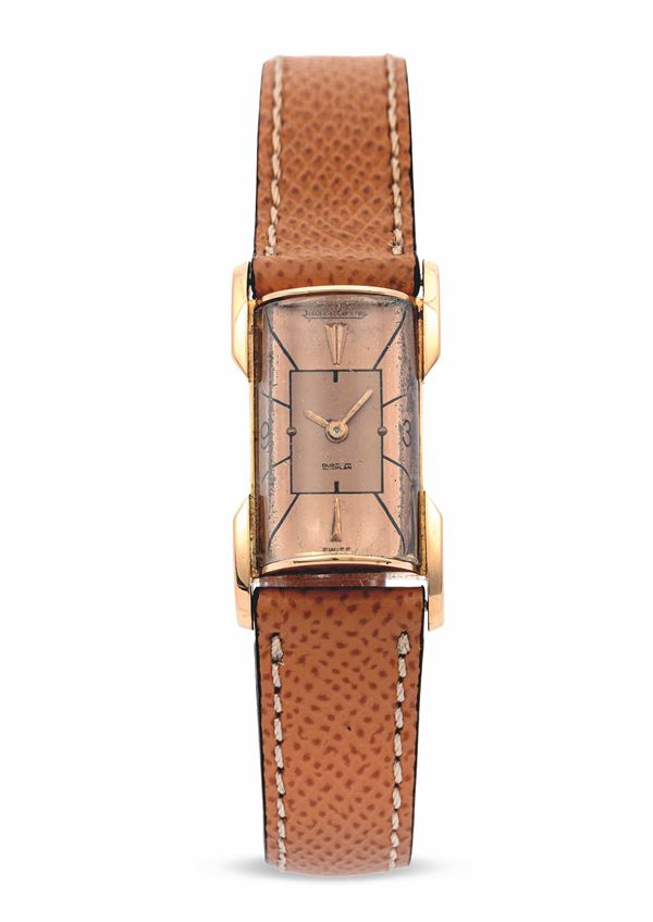 JAEGER LECOULTRE -  Cilindre Duoplanes in oro rosa.