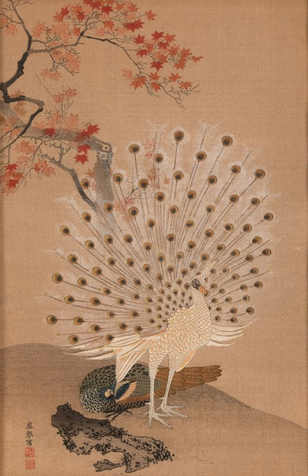 A painting on paper, Japan, 1900s