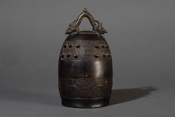 A bronze bell, China, Ming Dynasty, 1600s