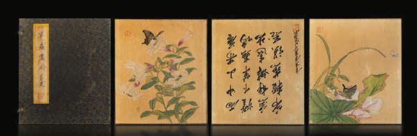 Ten drawings on paper, China, Qing Dynasty, 1800s