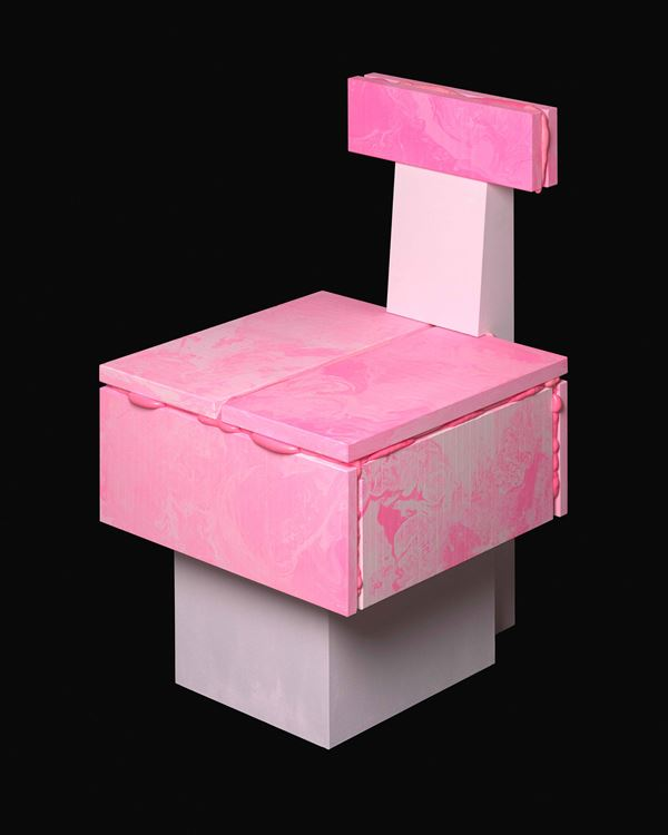 Hitencho with FRACAS Gallery Pop Series, Pink Chair, 2019