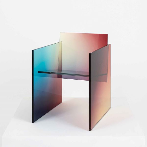 Germans Ermics with Galleria Rossana Orlandi Ombre Glass Chair, 2017