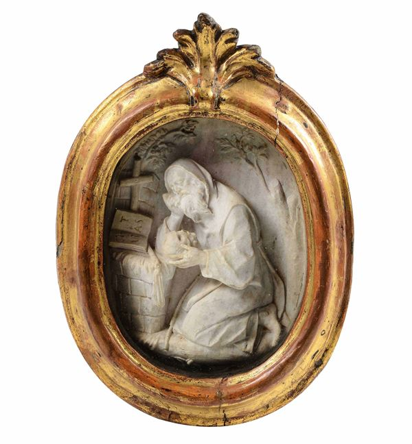 A marble relief of Saint Anthony, Italy, 1700s