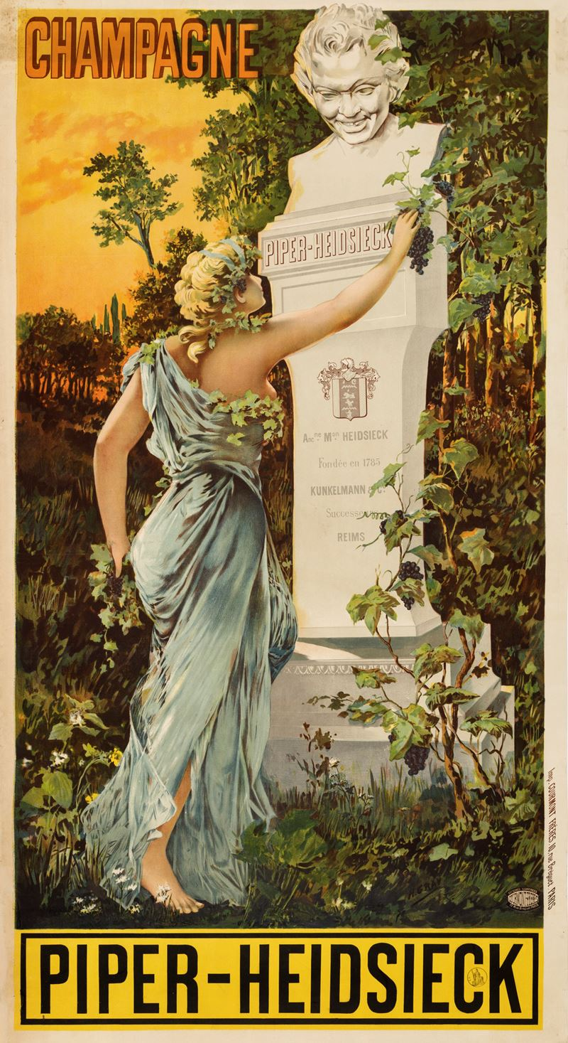 Anonimo<br>CHAMPAGNE PIPER-HEIDSIECK  - Auction Vintage Posters - Cambi Casa d'Aste